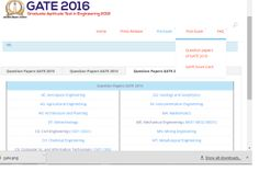 GATE Question papers 2016,2015,2013,2014 with answers
