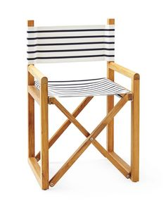 Navy White Striped Director's Chair Classic - Serena & Lily - $498 - domino.com