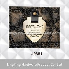 Rock blue metal leather labels