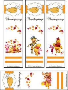 des signets Winnie l'Ourson qui seront aussi de jolis tags pour vos créations...