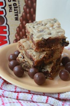 Annie's City Kitchen: Whopper Blondie Bars. Oh … – Satisfied Stomach Eat Dessert First, Dessert Bars, Whopper Cake, Just Desserts, Delicious Desserts, Yummy Food, Yummy Yummy, Healthy Food, Cake
