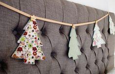 Christmas Tree Bunting Garland Sewing Tutorial