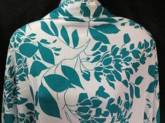 "Stunning Soft PolyViscose Leaves Print 60"" Dress Fabric *NEW* 
