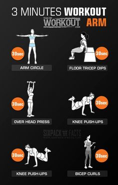 3 Minutes Arm Workout - Healthy Fitness Training Triceps Biceps