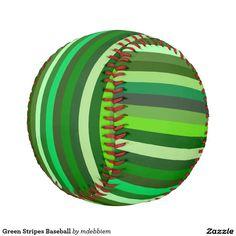 Green Stripes Baseball
