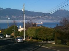 Warm and sunny day in Vancouver BC (10C). Couldn't resist going for a short walk. 22 km to UBC and back. The white area above the water is fog.