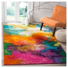 Shop for Safavieh Watercolor Virve Watercolor Modern Abstract Rug. Get free delivery On EVERYTHING* Overstock - Your Online Home Decor Store! Watercolor Rug, Green Watercolor, Home Designer, Cute Room Decor, Home And Deco, Eclectic Decor, My New Room, Online Home Decor Stores, Colorful Rugs