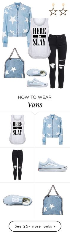 """Star Print"" by ny-silk on Polyvore featuring STELLA McCARTNEY, AMIRI, Vans and plus size clothing"