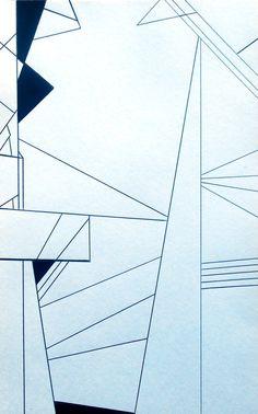 Shard Original Geometric Abstract Minimalist Art By 7RayedDesigns