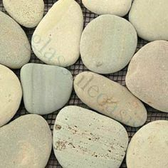 "Turquoise Pebbles & Stones Green River Rock Borders Tumbled Natural Stone- 14017 by Solistone. $18.70. Interlocking Tiles Sheet size: 4"" x 39"" Tile Size: 1"" x 1.5"" Tile thickness: 1/4""-3/4"" Grout Joints: 1/8"" Sheet Mount: Mesh Backed Stone tiles have natural variations therefore color may vary between sheets. - During manufacturing the pebbles are hand sorted into like colors and sizes and individually glued onto mesh backing. As a result product will vary in size shape..."