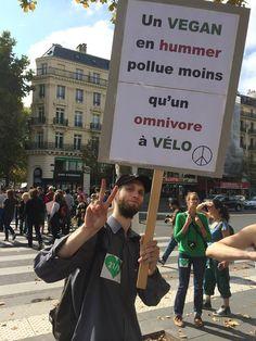 """""""Un vegan en hummer pollue moins qu'un omnivore à vélo."""""""