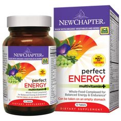 New Chapter Perfect Energy. Whole-Food Multi-Vitamin for Balanced Energy & Endurance. #Supplements http://www.freddiesnutrition.com/new-chapter-perfect-energy-72-t.html#
