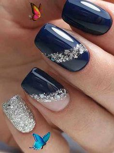 Dreamy nail art design ideas for winter -  Dreamy nail art design ideas for winter #winternail #nailart #naildesign #beauty #nails<br> Nail Art Designs, Black Nail Designs, Simple Nail Designs, Acrylic Nail Designs, Acrylic Nails, Coffin Nails, Nails After Acrylics, Short Nail Designs, Colorful Nail Designs