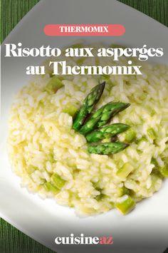 Le risotto est un plat typique italien. Cette recette aux asperges est cuisinée au Thermomix. #recette#cuisine#robotculinaire#thermomix #riz#risotto #italie #asperge Potato Salad, Potatoes, Ethnic Recipes, Food, Asparagus, Cooking Recipes, Potato, Essen, Meals