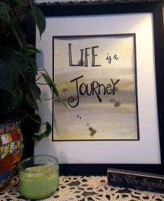 LIFE IS A JOURNEY Original Handpainted by worDSMITHstudios on Etsy, $14.00