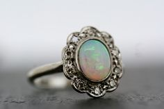 Art Deco Opal Ring  Antique Opal & Diamond Ring by AlistirWoodTait, £1150.00
