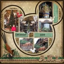 Christmas At Animal Kingdom Lodge - MouseScrappers - Disney Scrapbooking Gallery Vacation Scrapbook, Disney Scrapbook Pages, Scrapbook Page Layouts, Scrapbook Cards, Scrapbooking Ideas, Disney Animal Kingdom, Disney Cards, Disney Fun, Disney Resorts