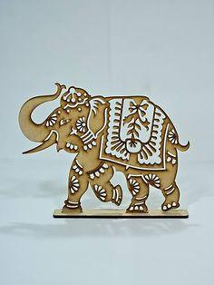 8 Elefantes Calados Fibrofacil Mdf. Cortado A Laser. Combos - $ 170,00 Elephants lasercut