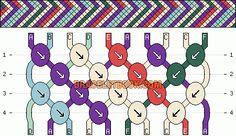 Normal Friendship Bracelet Pattern #4067 - BraceletBook.com