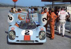 Gulf Porsche 917K at 1970 Daytona 24   by Nigel Smuckatelli