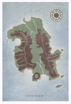 LOST island map 8x10 11x17 or 13x19 poster TV by missingtime