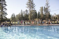 Afternoons by the pool & synchronized swimming! #theuniquecamp