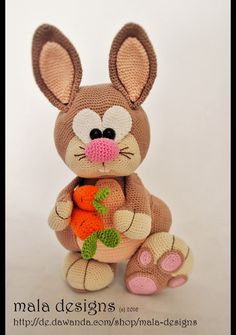 Häkelanleitung für Hoppel Hase / diy knitting instruction for sweet bunny by…