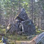 """Denne steinformasjonen blir kalt """"Trollkirka"""" / This rock formation is called""""Trollchurch"""". No trolls to see anywhere"""