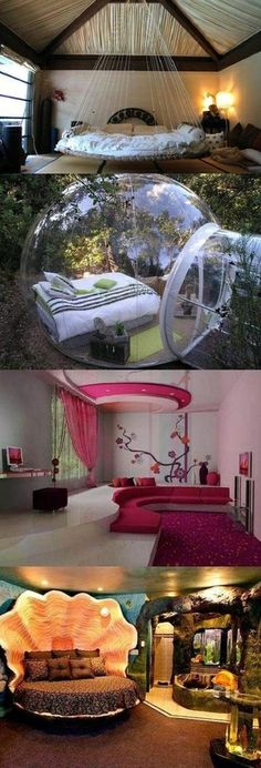 awesome bedrooms for my undoubtedly awesome house Awesome Bedrooms, Cool Rooms, Dream Rooms, Dream Bedroom, Room Goals, Deco Design, Design Case, Cool Beds, House Goals