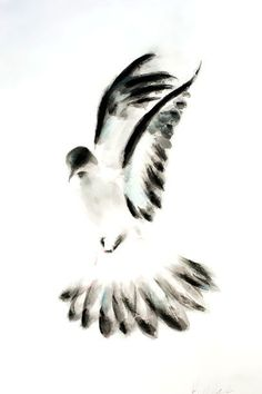 Perfect flying aquarelle dove. Style: Watercolor. Tags: Amazing, Beautiful