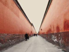 Between Red Walls    in the Forbidden City in Beijing