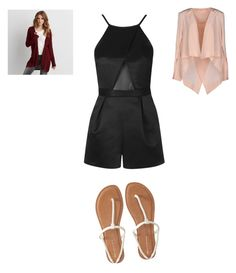 """"""""""" by emmacuroe on Polyvore featuring Topshop, sass & bide, American Eagle Outfitters, Aéropostale, DayToNight and romper"""