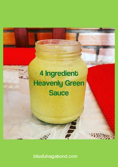 FREE PRINTABLE. 4 Ingredient Heavenly Green Sauce Starting today I will be blogging Relaxed Recipes! Recipes that I find while I am traveling made easy and simple for you to do at home without losing the culture behind it! Up now on the blog is the 4 Ingredient Heavenly Green Sauce that I made last week with my aunt. It includes a free printable for you to use to make the sauce yourself. I promise, it is too good not to try!