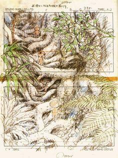 木霊 kodama - もののけ姫 Mononoke-hime 1997 Princess Mononoke and The Cat Returns UK blu-rays released 19th May 2014.