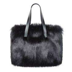 Faux Fur Bag - Kersey Bag by Helen Moore - Ebony 2e78ba17c4cf4
