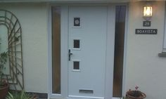 stunning white contemporary door