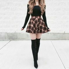 36 schicke Herbst-Outfit-Ideen, die Sie lieben werden 36 chic fall outfit ideas that you'll love – – Teen Fashion Outfits, Mode Outfits, Girly Outfits, Cute Casual Outfits, Cute Fashion, Look Fashion, Pretty Outfits, Stylish Outfits, Fashion Dresses