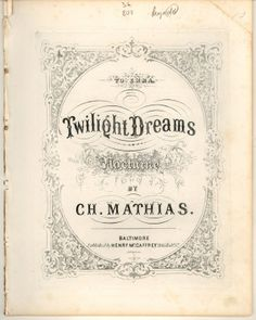 Twilight Dreams music title page