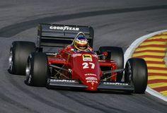 MIchele Alboreto Ferrari at Silverstone Ferrari Scuderia, Ferrari F1, Ferrari Racing, F1 Racing, Drag Racing, Grand Prix, Sport Cars, Race Cars, Michele Alboreto