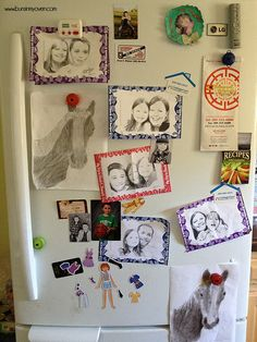 Too much fun at Chuck E. Cheese's will ensure your fridge looks like this!!