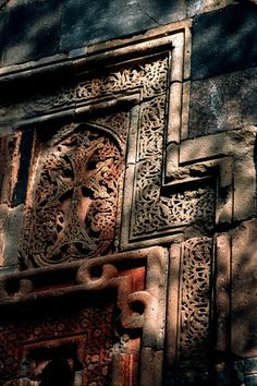 Stone Carving, Garni, Armenia