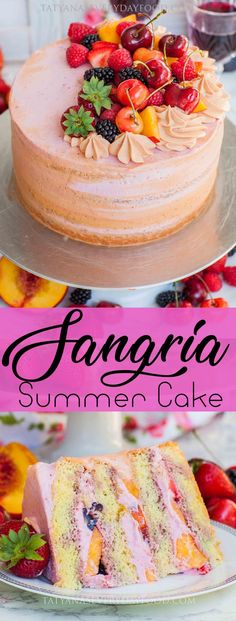 Summer Fruit Sangria Cake Recipe (video) – Tatyanas Everyday Food Summer Fruit Sangria Cake Recipe (video) – Tatyanas Everyday Food,Veganize this – Zeig uns deine vegane Version! sangria cake pinboard Related posts:What a beautiful. Just Desserts, Delicious Desserts, Dessert Recipes, Dessert Ideas For Party, Light Desserts, Food Cakes, Cupcake Cakes, Fruit Cakes, Fresh Fruit Cake