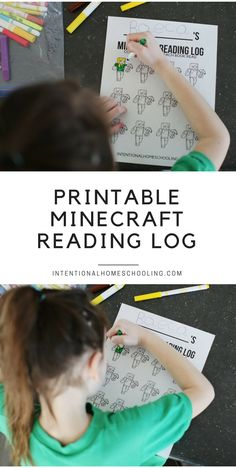 Free Minecraft Printable Reading Log Reading Log Printable, Homeschool Curriculum, Homeschooling, Teaching Reading, Reading Lessons, Guided Reading, Book Log, Home Education Uk, First Grade Sight Words