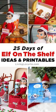 25 BEST Elf On The Shelf Ideas and Printables Over 25 of BEST Elf On The Shelf Ideas! Free printables, cute elf arrival ideas and new ideas for moving your Christmas elf. Cute and easy holiday activities for kids. Over a month of elf ideas! Elf On The Shelf, The Elf, Holiday Activities For Kids, Crafts For Kids, Toddler Activities, Christmas Elf, Christmas Crafts, Christmas Ideas, Christmas Games
