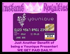 Want to have instant royalties too?? Join my Younique team and let's get this party started! No monthly auto shipments! Work from home! Natural based makeup and skin care line! Start now get paid now! Sign up at https://www.youniqueproducts.com/BindysBeauty