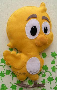Estação Felicidade Sewing Stuffed Animals, Dinosaur Stuffed Animal, Felt Crafts, Diy And Crafts, Lottie Dottie, Cartoon Caracters, Baby Snacks, Kokeshi Dolls, Hand Puppets