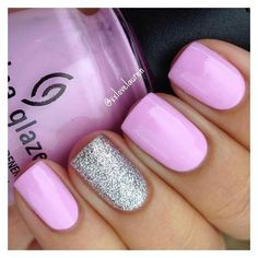 18 Spring Nails That Are as Pretty as the Season. #15 Is So Pretty and... ❤ liked on Polyvore featuring beauty products and nail care