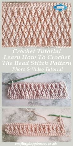 Alpine Stitch Crochet Pattern Free Tutorial - Britta Drewes - Alpine Stitch Crochet Pattern Free Tutorial Crochet Tutorial: Learn How To Crochet The Alpine Stitch Pattern Photo & Video Tutorial - Crafting Happiness - Crochet Unique, Crochet Simple, Double Crochet, Single Crochet, Magic Circle Crochet, Crochet Pattern Free, Crochet Stitches Patterns, Crochet Afghans, Knitting Patterns
