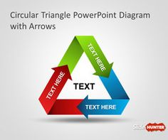Free Circular Triangle PowerPoint Diagram with Arrows