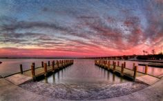 Sunset at the pier wallpaper #345